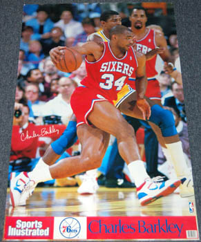 Charles Barkley 1987 Sports Illustrated Marketcom Poster