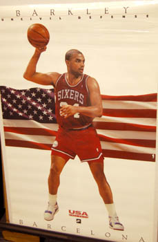 Charles Barkley Uncivil Defense USA Dream Team 1992 Nike Poster #5205