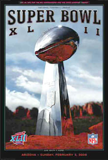 Super Bowl XLII (Arizona 2008) Official Poster