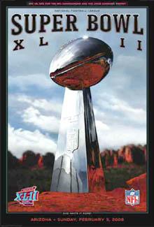 Super Bowl XLII (Arizona 2008) OfficialPoster