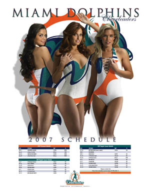 Miami Dolphins Cheerleaders Poster 2007