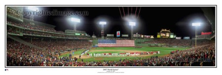 Fenway Park 2007 World Series Panoramic Poster