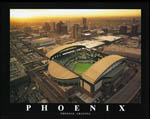 Chase Field Phoenix Aerial View Poster