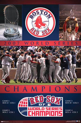 Boston Red Sox 2007 World Series Celebration Poster