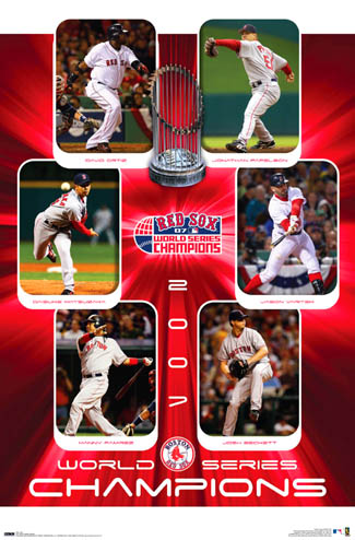 Boston Red Sox World Series 2007 Commemorative Poster