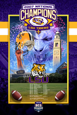 LSU 2007 National Champions BCS Commemorative Poster
