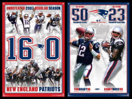 New England Patriots Perfect Season, Record Breakers 2007 Posters