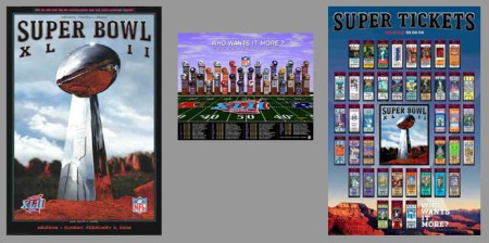 Super Bowl XLII Official Posters Combo
