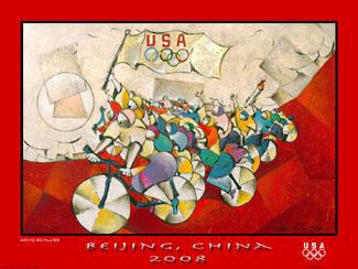 Beijing 2008 David Schluss ChampionsPoster