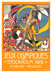 Stockholm 1912 Olympic Games Official Poster Design
