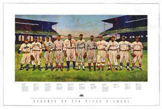 Legends of the Black Diamond Negro Leagues Poster Print