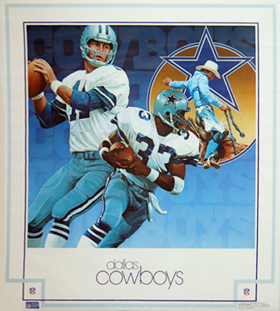 Dallas Cowboys 1982 DAMAC Poster by Chuck Ren