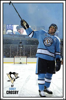 Sidney Crosby Winter Classic 2008 Powder Blue Uniform Poster