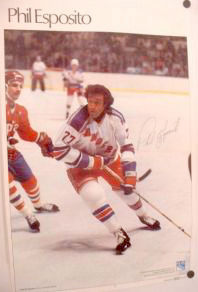 Phil Esposito 1980 Sports Illustrated Marketcom Poster