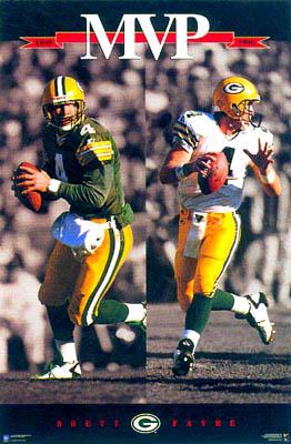 Brett Favre 1995-1996 MVP Poster Costacos Brothers1997