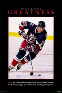 Wayne Gretzky Greatness Poster Liberty Uniform