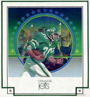 New York Jets 1979 DAMAC Theme Art Poster
