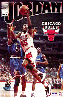 michael jordan number 45 poster the sports posters blog. Black Bedroom Furniture Sets. Home Design Ideas