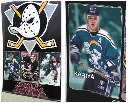 Mighty Ducks Poster 1996 with Wild Wing 3rd Jersey