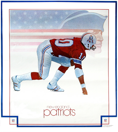 New England Patriots 1978 DAMAC Poster by Keith Batcheller