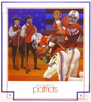 New England Patriots 1980 DAMAC Poster by Chuck Ren (?)