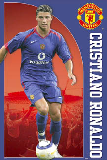 Cristiano Ronaldo 2005/06 Away KitPoster