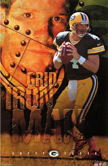 Brett Favre Grid Iron Man 2001 Starline Poster