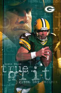 Brett Favre True Grit Poster Costacos 2003