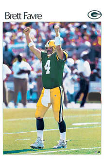 Brett Favre Retro SI Poster Starline 2003