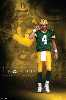 Brett Favre Legend Poster Costacos 2007