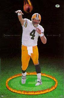 Brett Favre Armageddon Poster Costacos Brothers 1998