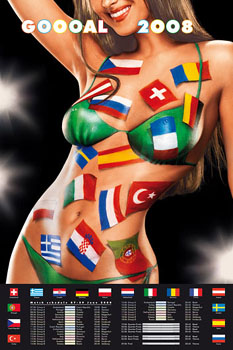 Sexy Model Promoting Euro 2008 Soccer Football Tournament