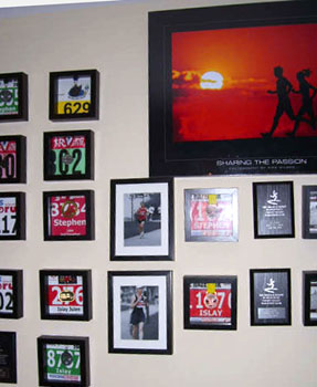 Running Wall including Sharing the Passion Poster