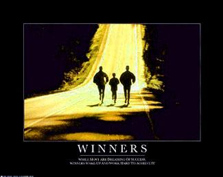 Winners Running Poster RunningTrio