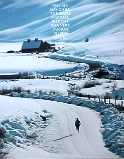 Winter Runner RUNNER'S PASSION Poster