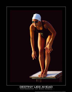 Womens Swimming Poster Destiny Lies Ahead