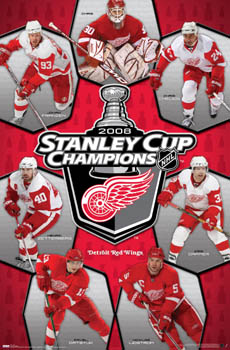 """Detroit Red Wings \""""Champions 2008\"""" Poster - Costacos Sports"""