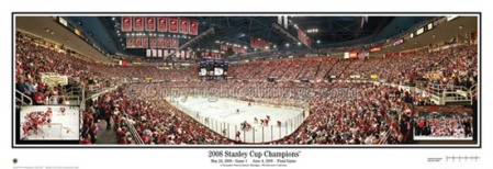 Detroit Red Wings 2008 Stanley Cup Panoramic Poster Print by Rob Arra
