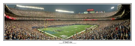 "Giants Stadium ""6 Yard Line"" Panoramic Poster Print"