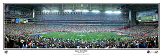 Super Bowl XLII Panoramic Poster Print