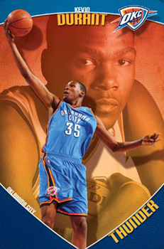 kevin durant s first ever poster the sports posters blog