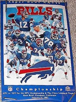 "Buffalo Bills ""Super Bowl XXVII"" (AFC Champions) - Action Images 1993"