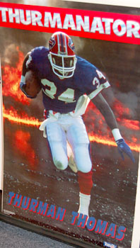 "Thurman Thomas ""The Thurmanator"" Poster - Costacos Brothers 1991"